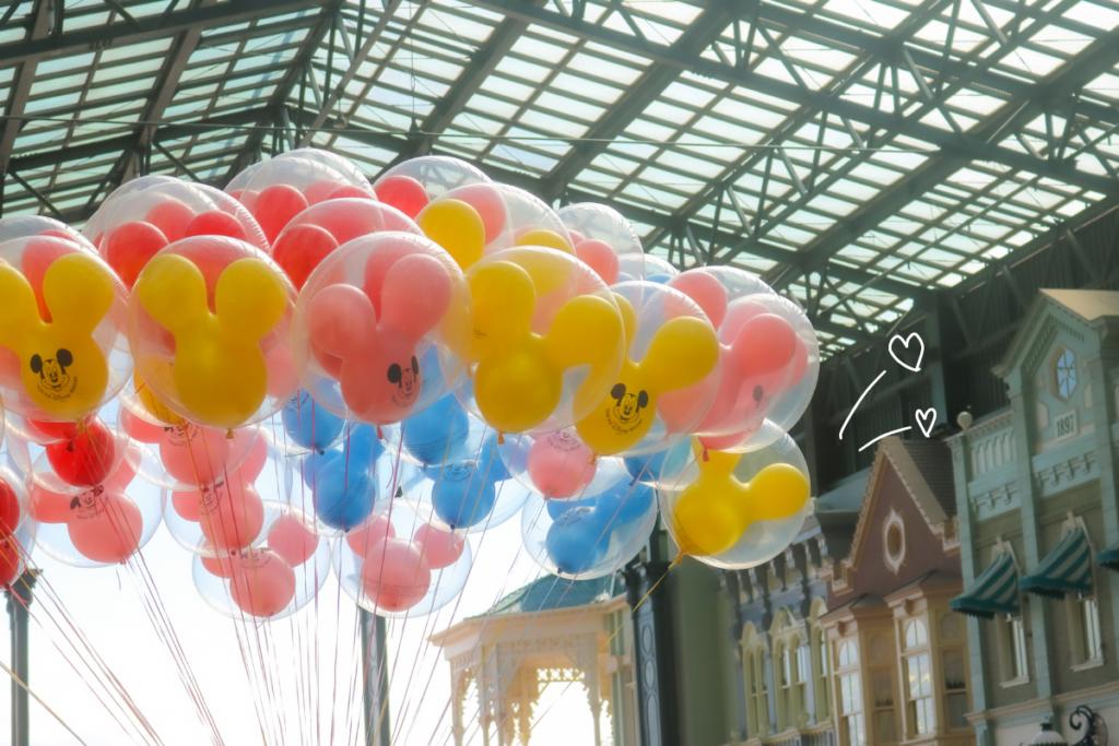 ディズニーの風船