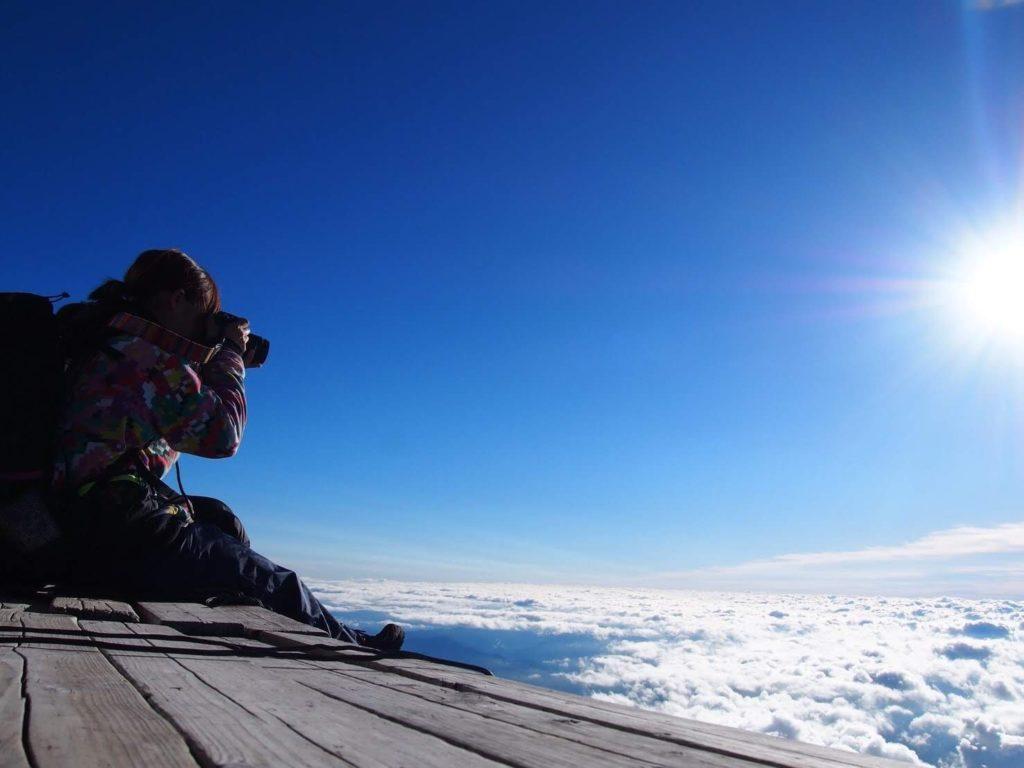 富士山と空と私