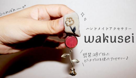琵琶湖産アクセサリー「wakusei」の世界観に一目惚れしました。どタイプイヤリング発見。